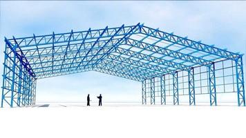 Estrutura metálica para plataformas